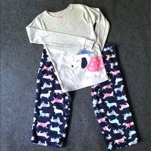 2 piece fleece pajama set